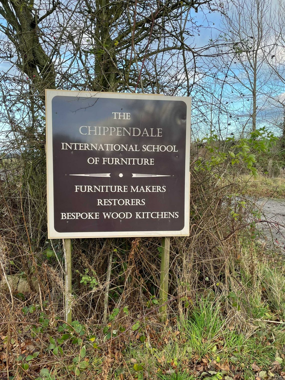 Chippendale International School of Furniture entrance sign